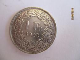 Suisse: 1 Franc 1903 (silver) - Suisse