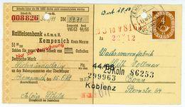 Seltene Verwendung EF Nr. 124 Auf Scheck Als Drucksache Aus Kempenich - BRD