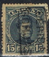 Sello 15 Cts Alfonso XIII, Carteria BORJAS (Lerida), Num 244 º - Usados