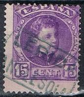 Sello 15 Cts Alfonso XIII, Carteria ANGLESOLA (Lerida), Num 246 º - Usados