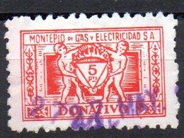 Viñeta De Montepio De Gas Y Electricidad. 5 Pts - Otros