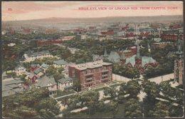 Birds Eye View Of Lincoln, Nebraska, 1908 - K-win Postcard - Lincoln