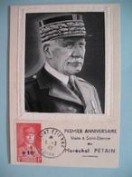 Carte Maximum - Card France  1943  Type Pétain  N° 494  Cachet Saint Etienne Loire - 1940-49