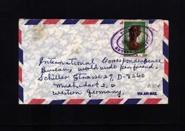 Jamaica 1985 Interesting Airmail Letter - Jamaica (1962-...)