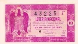 Lotería Nacional ESPAGNE MADRID Billet De Loterie - Billets De Loterie