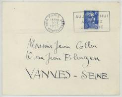 LAS Albert Decaris . Bons Voeux Pour 1955 à Un Admirateur . Autographe . Marianne De Gandon . - Covers & Documents