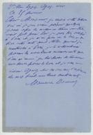 LAS Maurice Donnay  1918 . Auteur Dramatique Et Poète . Théâtre De Boulevard . Ecole Centrale . Académie Française . - Autografi