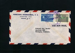 Panama 1960  Interesting Airmail Letter - Panama