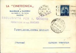 PADOVA - LA CINETECNICA DI BALIELLO & CASSOLI - Padova (Padua)