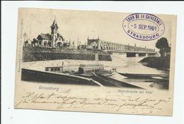 CARTE POSTALE STRASBOURG TOUR DE LA CATHEDRALE 5/9/1901 LA CRECHE - Strasbourg