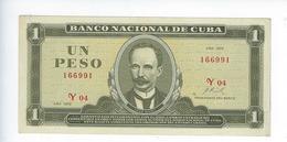 Billet Cuba 1 Peso 1972 - Cuba