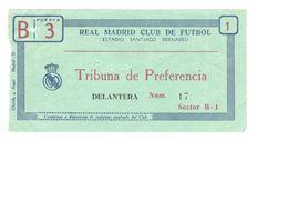 ENTRADAS DE ESTADIO - REAL MADRID CLUB DE FUTBOL - Match Tickets