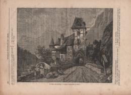 Stampa Di Fine '800 Su Pagina Di Giornale Con Il Passo Firesterniss In Tirolo (Tirol, Austria) - Immagine Tagliata