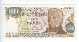 Billet Argentine 1000 Pesos - Argentine