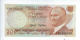 Billet Turquie 20 Lirasi 1970 - Turquie