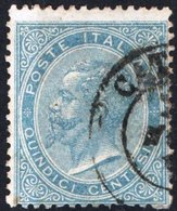 ITALIA, ITALY, REGNO, KINGDOM, COMMEMORATIVO, VITT. EM. II., 1963, FRANCOBOLLO USATO Y.T.  17     Scott 298 - 1861-78 Vittorio Emanuele II