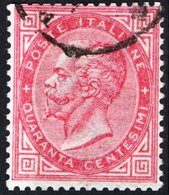 ITALIA, ITALY, REGNO, KINGDOM, COMMEMORATIVO, VITT. EM. II., 1963, ANNULLO A DATA,  USATO, Y.T.  19     Scott 31 - 1861-78 Vittorio Emanuele II