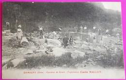 Cpa Damigny Carrières De Granit Exploitation Emile Mallet Carrière Carte Postale 61 Orne Rare Proche Colombiers Alençon - Damigny