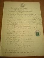 Italia Regno  Carta Bollata Lire 7 Marca Cent. 10  Filigrana 1934 XII PMF Timbro Prefettura Bova - 1900-44 Vittorio Emanuele III