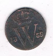 1/2 CENT  1859 NEDERLAND /4616G/ - [ 3] 1815-… : Kingdom Of The Netherlands