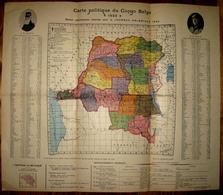 1922 - Carte Politique Du Congo Belge - Editée Pour La Journée Coloniale 1922 - 2 Scans - Maps