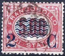 ITALIA, ITALY, REGNO, KINGDOM, SERVIZIO DI STATO, NUMERI, 1878, FRANCOBOLLO USATO Y.T. 31     Scott 43  (10,00) - Steuermarken