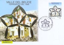 Italia 2018 Maximum Card FDC 50° Anniversario Terremoto Della Valle Del Belice Annullo Di Santa Margherita Earthquake - Altri