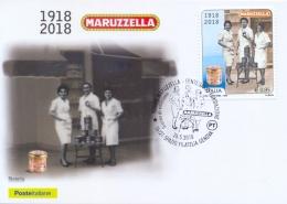 """Italia 2018 Maximum Card FDC Centenario Del Tonno In Conserva """"Maruzzella"""" - Alimentazione"""