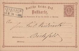 DR Ganzsache R3 Eisenach Bahnhof 16.5.74 - Briefe U. Dokumente