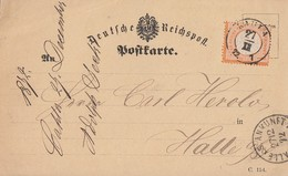 DR Karte EF Minr.18 K2 Kahla 27.12.72 Gel. Nach Halle/S. - Briefe U. Dokumente