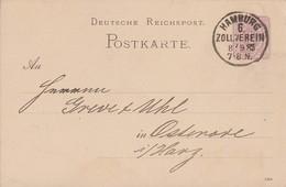 DR Ganzsache K1 Hamburg 6. Zollverein 8.9.85 - Deutschland