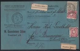 DR Paketkarte Mif Minr.3x 41, 44 Frankfurt 16.6.86 Gel. In Schweiz - Deutschland