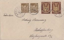 DR Brief Mif Minr.2x 236, 2x 242 Amberg 19.3.23 - Deutschland