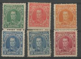 1904 Bolivar Yt 100-107 - Venezuela