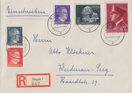DR R-Brief Mif Minr.785,812,813,Zdr. S278 Siegen 20.4.42 - Deutschland