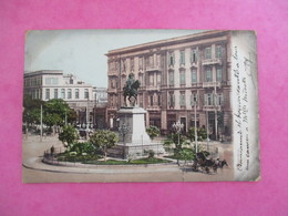 CPA EGYPTE ALEXANDRIE STATUE DE MOHAMED ALI - Alexandria