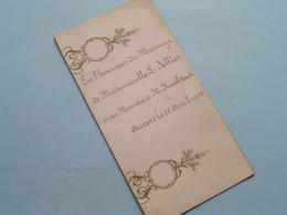 MARIAGE De L. SELLIER Et M. KOOLSAET Anvers 15 Avril 1912 ( Zie Foto's ) ! - Menus