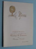 Feestmaal Plechtige H. COMMUNIE Van Monique VERWERFT .... 26 April 1959 ( Zie Foto's ) ! - Menus
