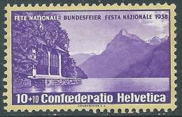 1938 SVIZZERA PRO PATRIA MNH ** - I57-9 - Pro Patria