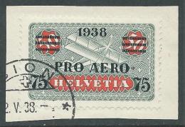 1938 SVIZZERA USATO POSTA AEREA PRO AERO - I57-10 - Luftpost