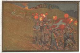 SUIZA SWITZERLAND ENTERO POSTAL 1912 FIESTA NACIONAL CRUZ ROJA RED CROSS BANDERA - Sobres