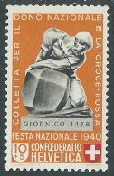 1940 SVIZZERA PRO PATRIA MONUMENTI 10 CENT MH * - I56-6 - Nuovi