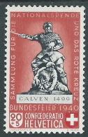 1940 SVIZZERA PRO PATRIA MONUMENTI 20 CENT I TIPO MH * - I56-8 - Pro Patria