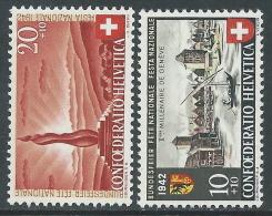 1942 SVIZZERA PRO PATRIA CITTA DI GINEVRA MH * - I56-8 - Pro Patria