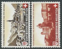 1943 SVIZZERA PRO PATRIA VEDUTE MNH ** - I56-8 - Nuovi