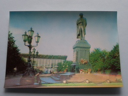 MOSCOW Monument Of A.S. PUSHKIN ( Details : Zie Foto's ) 3D ! - Russie