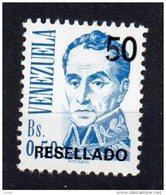 VENEZUELA - SIMON BOLIVAR - 50 Bs Avec Surcharge 50 Resellado - 1991 - - Venezuela