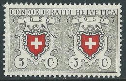 1950 SVIZZERA PRO PATRIA CENTENARIO FRANCOBOLLO 5 CENT MNH ** - I53-9 - Neufs