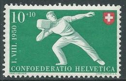 1950 SVIZZERA PRO PATRIA LANCIO PIETRA 10 CENT MNH ** - I53-9 - Pro Patria