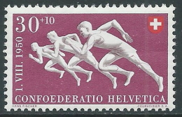 1950 SVIZZERA PRO PATRIA CORSA 30 CENT MNH ** - I53-9 - Pro Patria